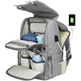 Diaper Bag Backpack for Mom&Dad, Large Capacity Baby Nappy Bag w/Changing Pad