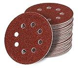 125 mm red Exzenter Schleifscheiben, passend für Bosch GEX 125-1 AE Sortiment SET 50 Scheiben P150 P120 P100 P80 P60, red Film