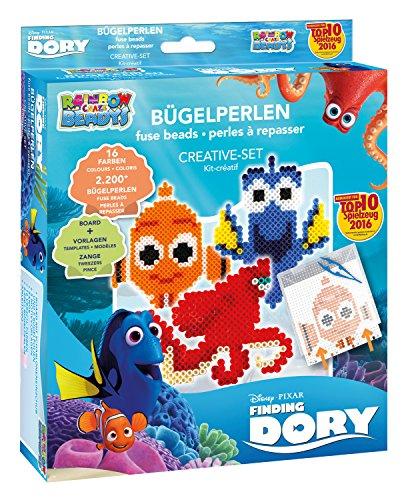 Craze 54537 - Rainbow Beadys Bügelperlen Kreativ Set Disney Pixar Findet Dorie, inklusiv Zubehör, 2200 Perlen, blau