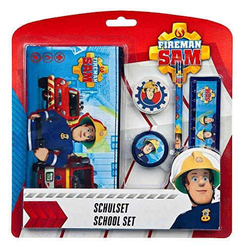 Schulset Feuerwehrmann Sam, 5 teilig
