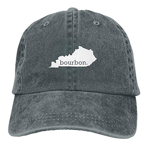 fboylovefor Kentucky Bourbon Vintage Washed Dyed Cotton Adjustable Denim Cowboy Cap