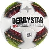 Derbystar Fußball Hyper Pro TT, Trainingsball, Ball Größe 5 (420 - 440 g), weiß gelb rot, 1020