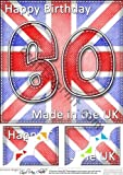 8 x 8 abatible pabellón UK 60th Birthday decoración festoneados por Carol Clarke