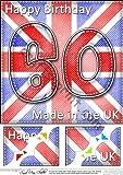 8x 8abatible pabellón UK 60th Birthday decoración festoneados por Carol Clarke