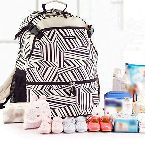 Sport Freizeit große Kapazität multifunktionale Mama Tasche, Tennis Tasche, Rucksack, Mama Tasche, Computer Tasche ( Farbe : Zebra pattern ) Zebra pattern