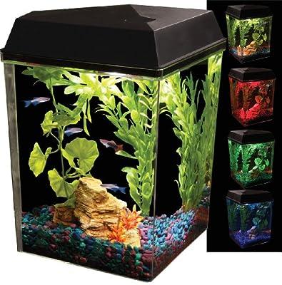 KollerCraft API Aquaview Corner Aquarium Kit with LED Lighting and Internal Power Filter, 2-1/2 Gallons