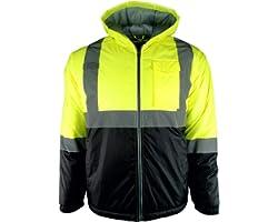 3XL Hi Vis Safety Two-Tone Lightweight Jacket (3XL, Yellow/Black)