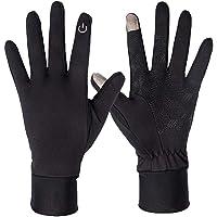 Sino-K - Guanti da corsa leggeri e caldi, guanti sportivi da corsa, antiscivolo, antivento, per uomo, donna, ciclismo…