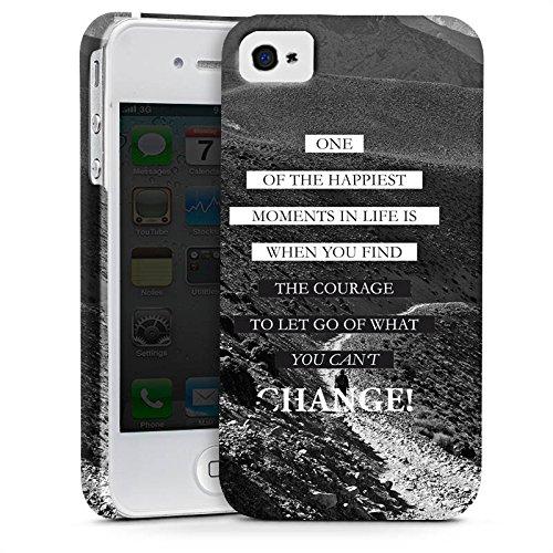 Apple iPhone 7 Hülle Case Handyhülle Sprüche Glücklich Statement Premium Case glänzend