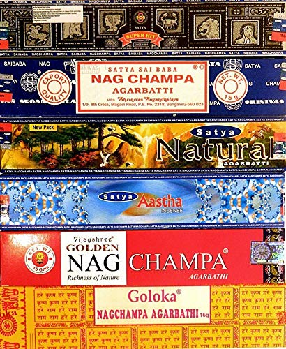 Incense sticks 12 Satya boxes Nag Champa Goloka 6 Nagchampa aroma fragrance air freshener