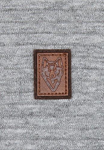 Naketano Male Knit Zapzarap Zip Zap V Grey Melange