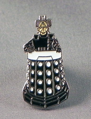 Anstecknadel, aus Metall / Emaille, Motiv Dr. Who Davros Dalek Lord Dr Who Anstecknadel