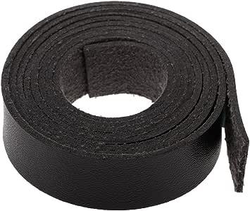 2x 2m DIY PU Lederband Lederriemen Flach Bänder Streifen 15mm  Weiß Blau