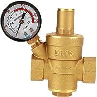 Réducteur de Pression d'eau Aeloa-DN15 Réducteur de Pression d'eau réglable en Laiton avec manomètre pour Usage…
