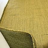 TOLKO - Schwerer Canvas Möbel-Stoff Meterware - Polster Polyester-Qualität - Robust und Abriebfest (Gelb-Grün)