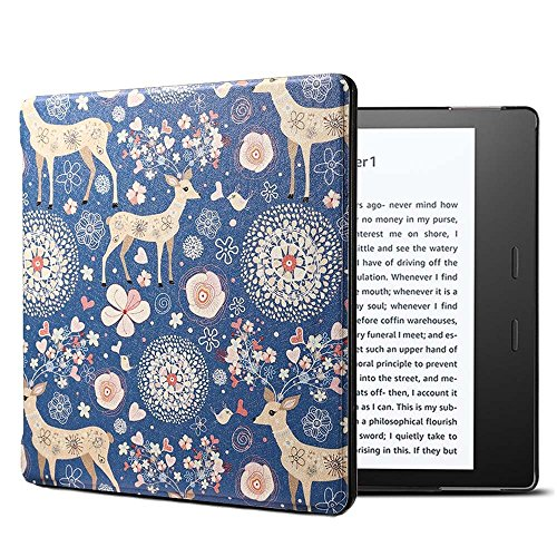 �r Kindle Oasis 2017, Ultra Slim Lightweight Flip Schutz Smart Cover [Auto Wake/Sleep] für Amazon All-New 7