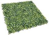 Sunshades Depot Sonnenschutz Depot Kunstpflanzenwand Buchsbaum Milan Blatt Graszaun Sichtschutz immergrün Hecke Panels Kunstpflanze Wand 50,8 x 50,8 cm (7 Stück)