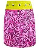 SUNSA Mädchen Rock Jeansrock Minirock Wickelrock Wenderock Sommerrock Mädchenrock aus Baumwolle, 2 optisch verschiedene Röcke, Größe ist variabel verstellbar