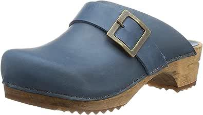 Sanita Urban Mule Clog   Original Handmade Wooden Leather Clog for Women