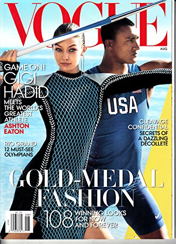 Vogue (US) 8 2016 Gigi Hadid Zeitschrift Magazin Einzelheft Heft Mode Fashion Beauty