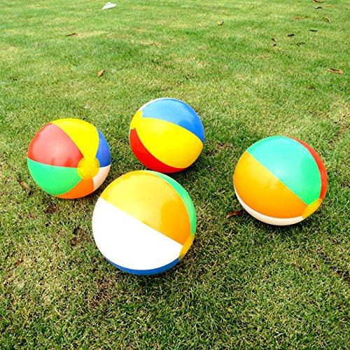 Forfar Aufblasbare Wasserball 5pcs Blow Up Aufblasbar Strand Bälle Schwimmen Lustiges Spiel-Spielzeug 23cm für Pool / Feiertags-Party / Garten