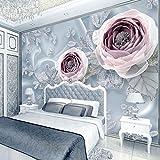 Benutzerdefinierte 3D Stereoskopische Fototapete Schlafzimmer Seide Spitze Blumen Tapete Luxus 3D Wandbilder Hochzeit Zimmer Tapete 3D Roll