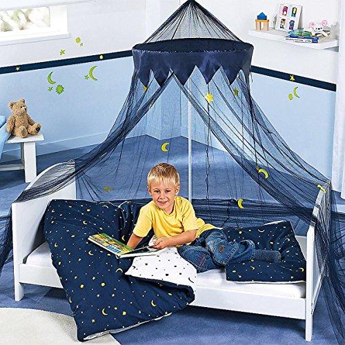 Bornino Home Kinderbettwäsche Mond und Sterne – 2-farbige, wendbare Bettwäsche aus reiner Baumwolle für Kinder – Kissen- & Bettdeckenbezug