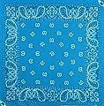 Kopftuch Bandana Halstuch Biker Sport Tuch Kopfbedeckung Blau