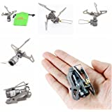 Hunting Explorer 25g Super Lightweight Mini Pocket One-Piece Titanium Alloy Outdoor Cooking Burner Folding Camping Gas Stove