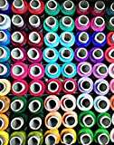 #4: Speed Poly Brand Sewing Threads, 50 Basic Shades Reels, 300 MTS Each Spool, Fast Color, reel20basic