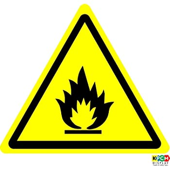 Iso Safety Label Sign International Warning Flammable Materials