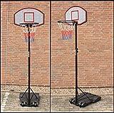 Basketballkorb mit Ständer 1,8 - 2,1 m Basketballständer Mobiler Portabler Basketballanlage