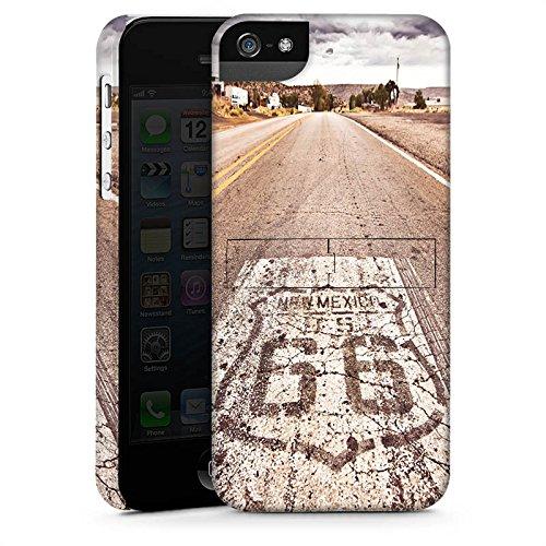Apple iPhone 8 Hülle Case Handyhülle USA Biker Strasse Premium Case StandUp