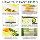 from steama Sensio Home Steama 3 Tier Electric Food Steamer - Cooks Healthy Food Fast with Instant Steam Function, and 9 Litre Capacity Lockable Containers Model SHST001