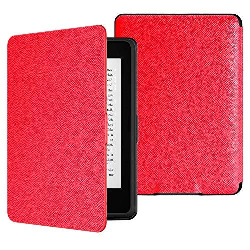 MoKo Kindle Paperwhite Hülle - Ultra Leightweight Schutzhülle Smart Cover mit auto Sleep / Wake Funktion für Alle Kindle Paperwhite (2016 / 2015 / 2013 / 2012 Modelle mit 6 Zoll Bildschirm), Nicht Kompatibel für All-new Paperwhite 10th generation 2018, Rot