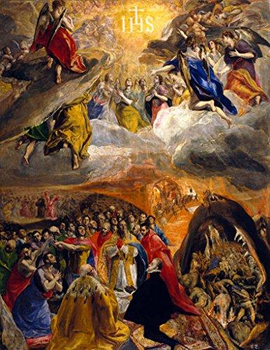 Impresin-artstica-Pster-El-Greco-Die-Anbetung-und-Verherrlichung-des-Namens-Jesu-sogen-Traum-Philipps-II-Impresin-de-alta-calidad-foto-pster-artstico-45×60-cm