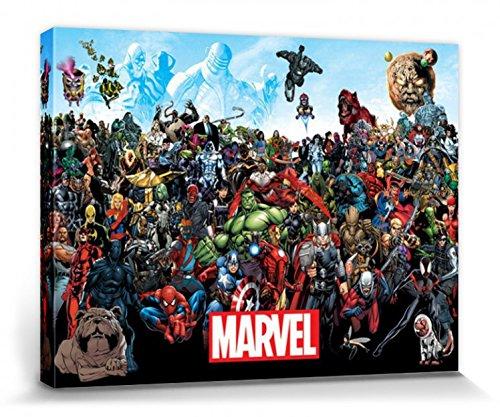 Marvel Comics - Universo Cuadro, Lienzo Montado Sobre...