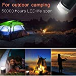 Lanktoo 2-in-1 Waterproof LED Camping Lantern & Power Bank Charger, 8800mAh IP65 Rechargeable Outdoor Tent Light Emergency Lamp for Backpacking Hiking Fishing Outages 4