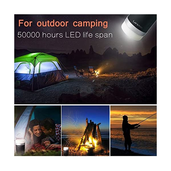 Lanktoo 2 in 1 Rechargeable Camping Lantern & Power Bank for Hiking Fishing Emergencies - Super Bright, Lightweight, Water Resistant. 2