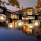 ROVLAK Guirlande Lumineuse Extérieur / Intérieur Jardin Lumières Étanche 25 + 4 Lampes de Remplacement Guirlandes Lumineuses