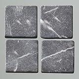 MosaixPur 20x 20x 4mm 200g 45-tlg. Natur Stein Mosaik Fliesen, anthrazit