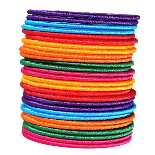 Naksh Silk Thread Multi-Colour Plastic Bangle Set Women