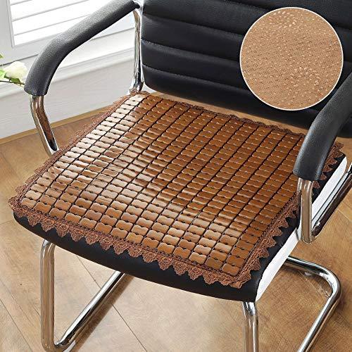Yearly bambù cuscini per poltrone, estate cuscini tappetino traspirabilità ufficio seduta cuscino sedia del calcolatore seggiolino freddo cuscini per sedia-b w50xh50cm(20x20inch)