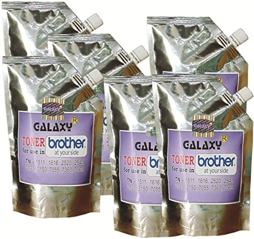 Galaxy Brother-7055, 7060, 7065, 7360, 1111, 1611, 2520, 2541 Toner - Pack Of 6 (Black)