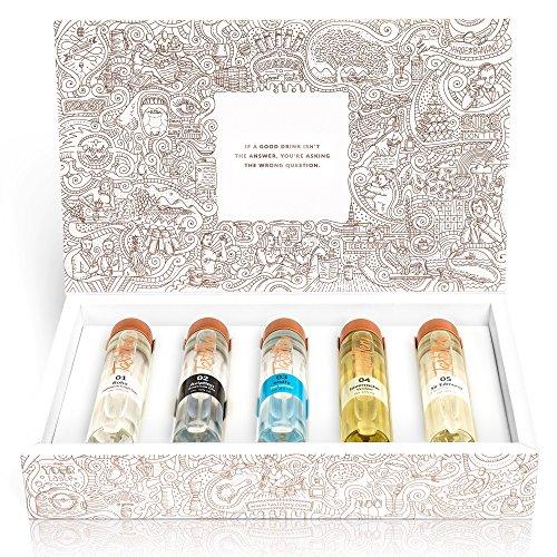 """Tastillery Gin Tasting Probierset \""""Gin Weltreise\"""" in Geschenkbox (5 x 50ml)"""