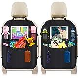 DIAOPROTECT Bilbaksätesskydd, 2-pack bilbaksätesorganiserare för barn, vattentätt bilsätesskydd med pekskärm iPad surfplatteh