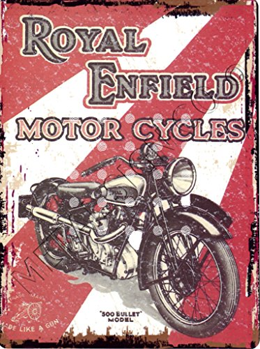 8 x 10 en ROYAL ENFIELD BULLET 500 muestra del estilo RETRO de la vendimia 8 x 10 cm 20 x 25 cm Hombre vertiente autoknew cuadro moto
