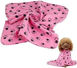 Unbekannt Puppy Hund Decke, thebigthumb 60x 70cm, Pet Katzenbett Weichen Warm Schlafen Matte Pfotenabdruck Doggy Pet Zubehör Klein Größe Decke für Kätzchen Dogs Home Reise