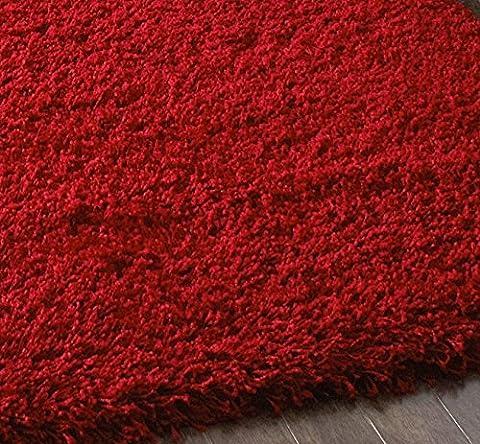 Textures de salon moderne épais tapis Shaggy Tapis-Rouge - 230