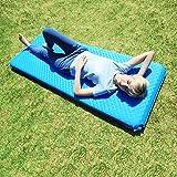 KingCamp Esterilla/colchón con válvula auto-hinchable, impermeable y aislante de la humedad, muy ligero, para senderismo, camping, actividades al aire libre, Color azul y gris